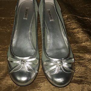 Alfani Glenda Silver Women's Flat Shoes